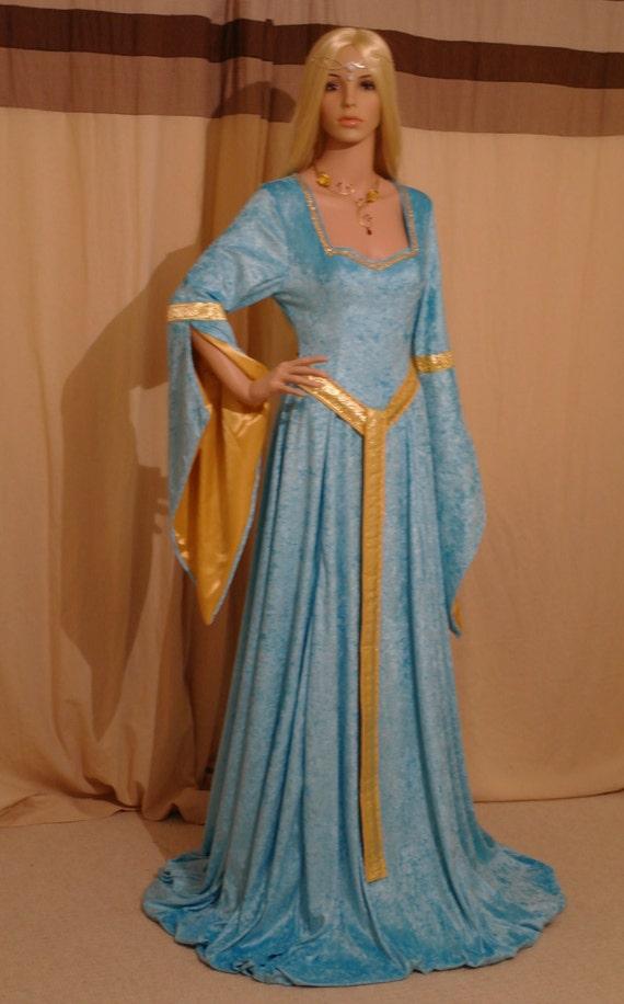 Elven Dress Medieval Dress Renaissance Dress By
