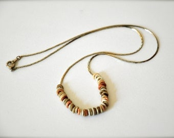 Modern Minimalist Gold Heishi Beaded Necklace