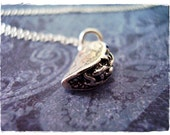 Silver Taco Necklace - Sterling Silver Taco Charm on a Delicate 18 Inch Sterling Silver Cable Chain