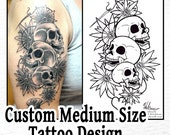 Custom Medium / Medium Wrap Around Tattoo Design Commission
