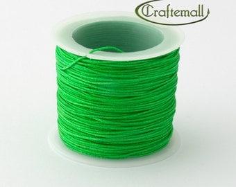 Emerald green nylon cord - 1mm nylon cord - 1 roll (35meters)