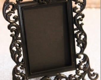 Set of 10 Mini VINTAGE STYLE FRAMES Black PlaceCard Placecard Table Number Menu Label Frame Chalkboard Photo Baroque Miniature Ornate