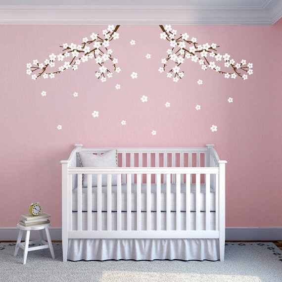 Cherry Blossom Branch Nursery Wall Decals By Katazoom On Etsy