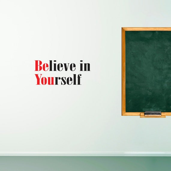 Wall Decals Wall Words Art Wall Stickers Vinyl Lettering - Believe in Yourself