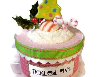 Pink Christmas Trinket Box