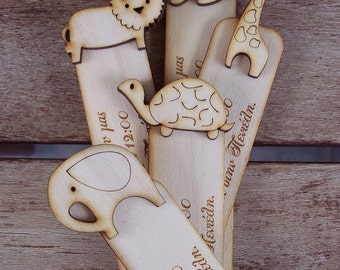 Bookmarks Wood Invitations - 5 pcs