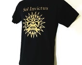 Sol Invictus    T shirt screen print  black short sleeve