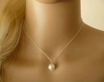 Bridesmaid Gift, Set of 3, 4, 5, 6, 7, 8 Pearl Necklace, Wedding Jewelry