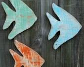 School Of 6 Angel Fish, Beach House Style, Coastal Living Decor, Nautical