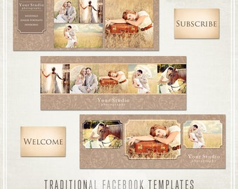 Traditional Facebook Templates - 3 banners & 1 tab image