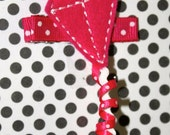 Boutique Kite Pink Ribbon felt hair clip