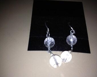 Clear Quartz Earrings, Crystal Earrings, Gemstone Earrings, Beaded Earrings, Dangle Earrings, Sparkly Earrings, Gift for Her Crystal Jewelry