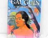 Vintage Gauguin Coffee Table Book, Vintage Large Hardback Gauguin Art Book
