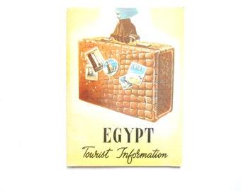 Egypt Tourist Information, a Vintage Tourist Booklet, 1953