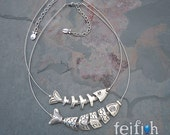 Elegant Santorini or Mykonos Bonefish Necklace