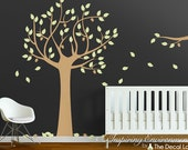 Oak Tree with Leaves and Acorns Wall Decal - WAL-2153A