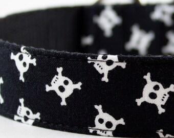 Skull and Crossbones Dog Collar