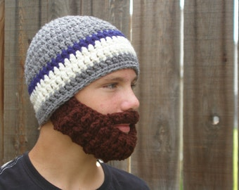 SALE! PreTeen ULTIMATE Bearded Beanie Grey/Navy Mix