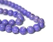 8mm riverstone beads, round light purple gemstone, full & half strands available  (909S)
