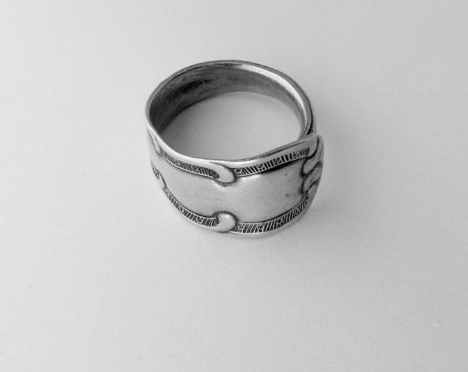 Eco Friendly Ring Unisex Thumb Ring Recycled Antique Spoon Ring
