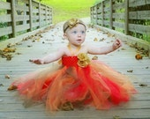 Fall Tutu Dress- Baby Tutu- Infant Tutu- Girls Tutu- Tutus- Free Matching Headband- Available In Size: 0- 24 Months.