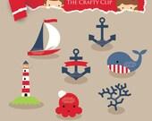 SALE! Nautical Clip Art Set