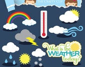 SALE! Weather Clip Art Set