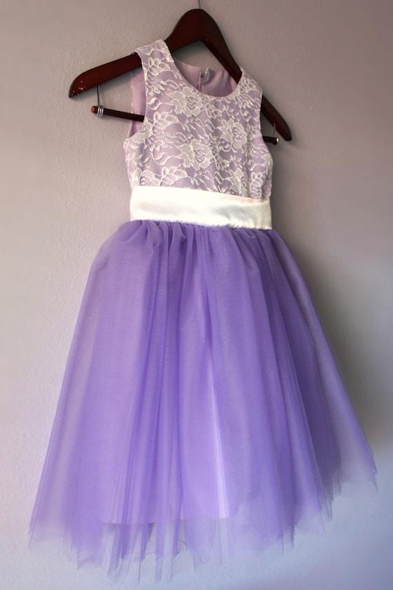 Flower Girl Lace Tutu Dress Lavender Purple by ...