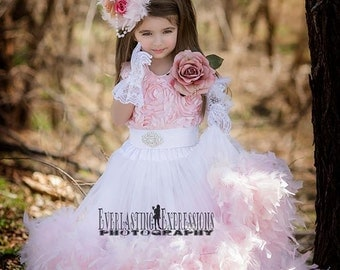 Exquisite Petal Flower Girl Dress