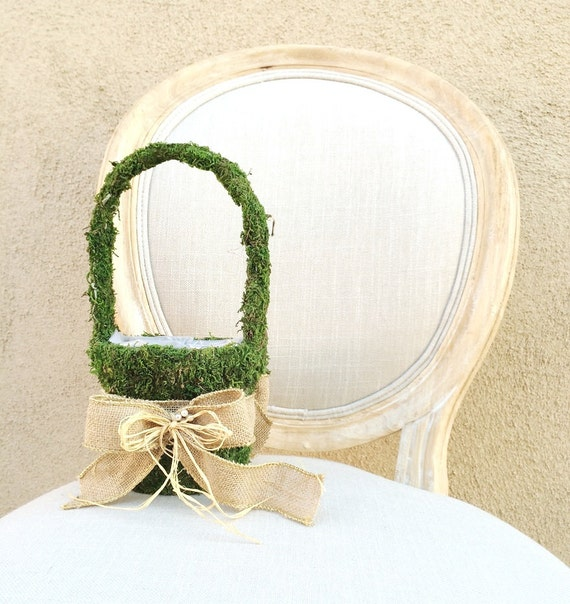 Moss Flower Girl Basket