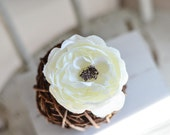 Ranunculus flower - Ivory, Cream - Flower Head - Artificial Flower - Silk Flower - Wholesale Flower Head