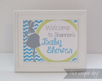 About to Pop Baby Shower Welcome Sign - RTP - Printable - Custom - Personalized (girl/boy/gender neutral)m// RTP- 08