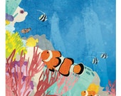 """Nature Poster: Reefs, 12 x 24"""""""