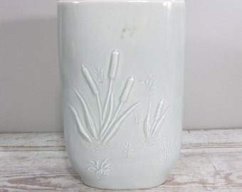 Grey and Pink Red Wing Vase