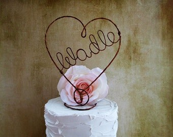 Rustic Name Wedding Cake Topper, Rustic Cake Decoration, Rustic Centerpiece,Engagement Name Cake Topper,Anniversary Decoration,Bridal Shower