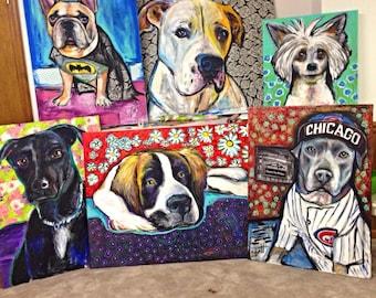 Oversized Dog Painting