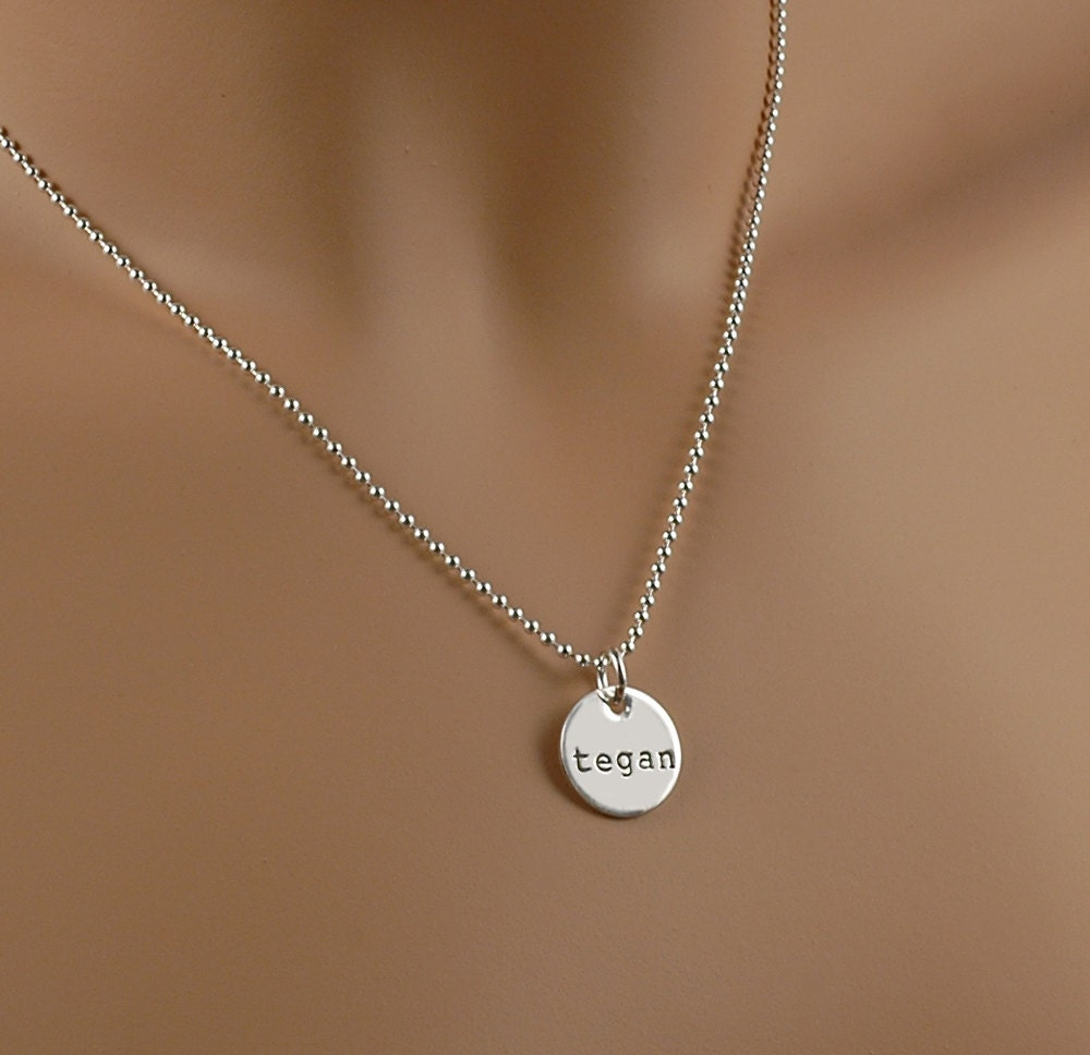 Hand stamped necklace 1 2 disc personalized jewelry for How do you make hand stamped jewelry