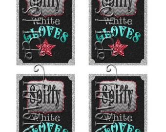 Magical Magician Transfiguration Kit Labels Gray/Red