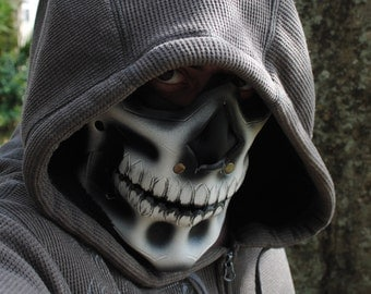 Leather Reaper Half Mask