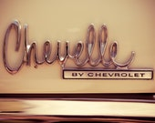 Chevelle by Chevrolet - Classic Car Emblem - Wall Art for Guys - Muscle Car Art - Mancave Decor - Fine Art Photography