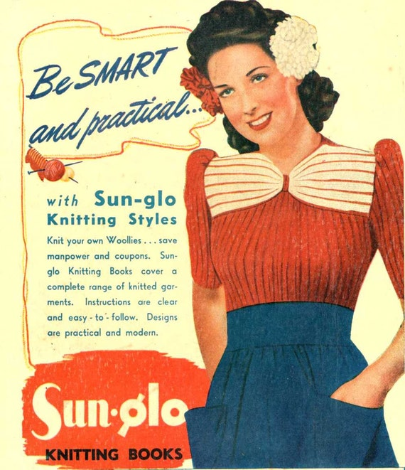 Vintage Knitting Pictures : Aloha s pin up ribbed jumper vintage knitting pattern