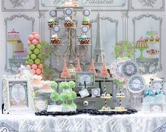 Paris Party Backdrop 3ftx4ft By Cutie Putti Paperie