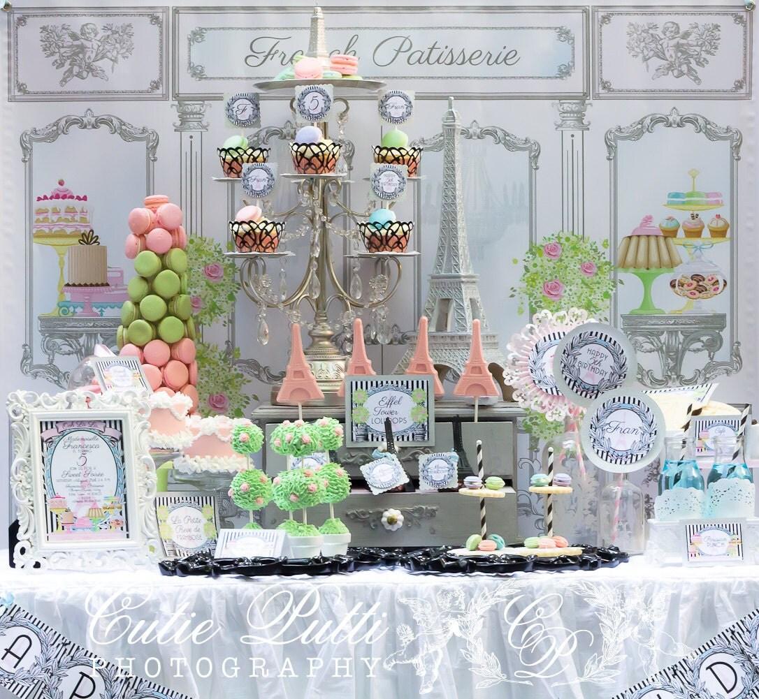 Paris party backdrop 3ftx4ft by cutie putti paperie for Paris themed decor