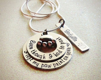 Hand Stamped Custom Memory Necklace for your pet, personalized