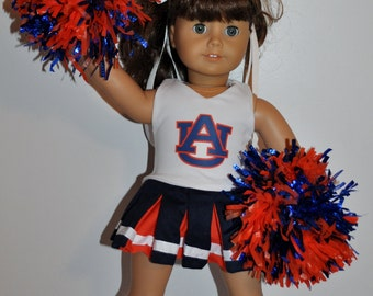 AUBOURN cheerleader outfit  that fits AMERICAN girl dolls