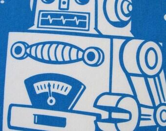 Maynard's Mousetrap BLUE Robot Pillowcases/ Robots/Linens/Bedding/Sheets/Pillows