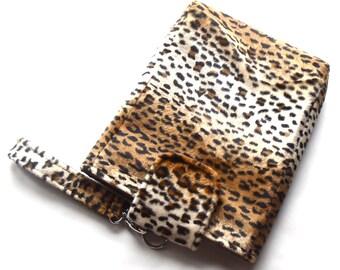 Leopard Tablet Case, Tablet Sleeve, Tablet Cover, Mini Laptop Case,  Faux Fur Case, Animal Print, Tablet Accessory, Electronics Case