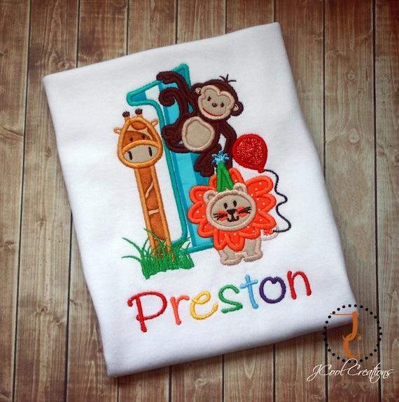 Jungle Birthday Shirt 1st Birthday 2nd Birthday Jungle