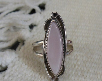 Pink Sterling Silver Ring
