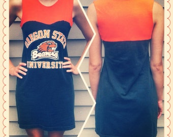 OSU Beavers Oregon State Game Day Dress Upcycled Size Small